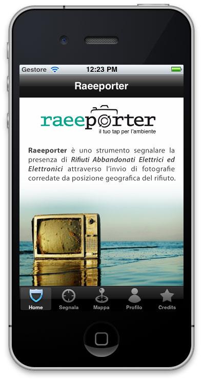 RAEEporter1 Un'applicazione iPhone per limitare l'inquinamento grazie alla partecipazione attiva dei cittadini