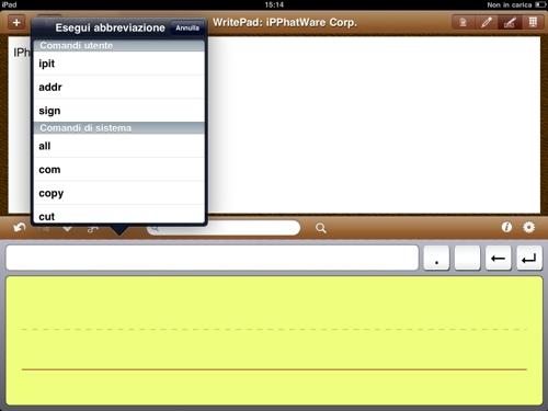 WritePad Italiano 02 WritePad Italiano: unapplicazione per il riconoscimento avanzato della scrittura