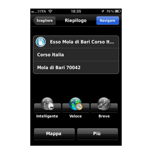 01 Recensione del navigatore per iOS Dynavix Europa Occidentale, migliaia di strade in tasca