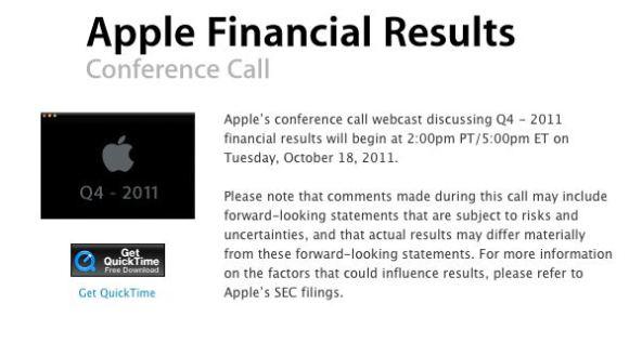 Apple Financial Result 580x317 Risultati di vendite del quarto trimestre Apple con 28,27 miliardi di dollari di fatturato