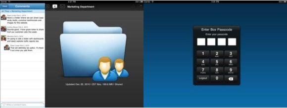 Box.net iOS 580x219 50GB di spazio web gratuito offerti da Box.net per gli utenti iOS
