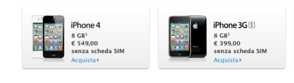 Schermata 10 2455839 alle 22.45.50 580x164 Apple introduce liPhone 4 da 8GB e rende liPhone 3GS il modello economico