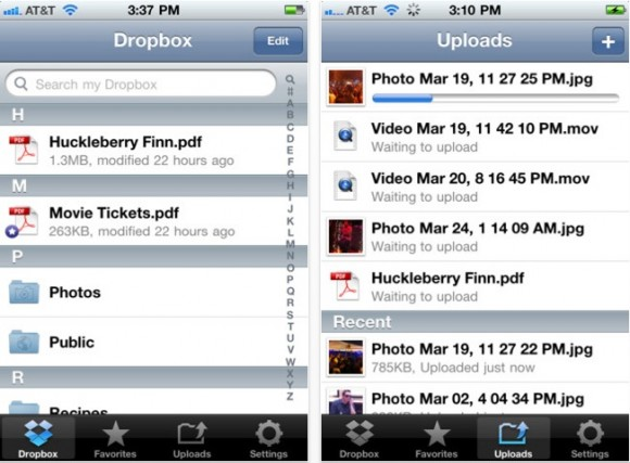 Schermata 10 2455849 alle 18.39.27 580x427 Aggiornamento per Dropbox che introduce la compatibilità ad iOS5
