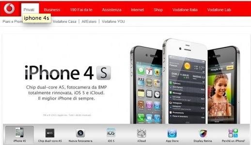 Schermata 10 2455862 alle 20.10.09 Tariffe degli operatori italiani per acquistare liPhone 4S