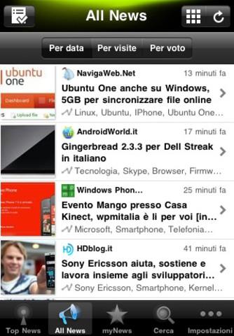appy geek iphone 4 APPY Geek, un news reader per iPhone