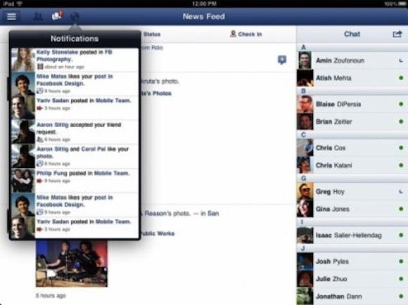 facebook ipad 414x310 Facebook viene aggiornata alla versione 4.0 ed arriva anche la versione per iPad