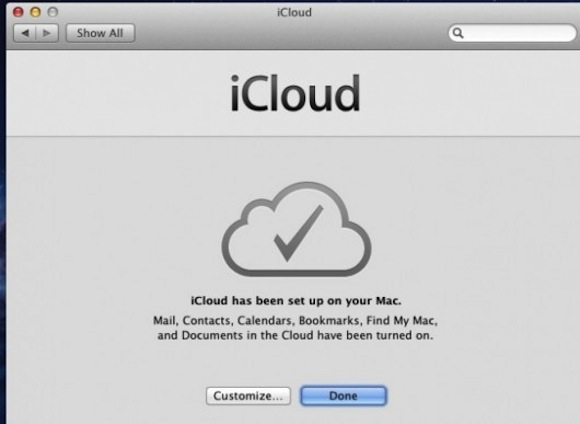icloud finished 530x387 Nellultima beta di Mac OS Server 10.7.2 appare il wizard di iCloud