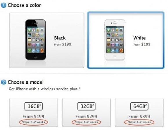 iphone 4s sold out 414x320 LiPhone 4S fa registrare pre ordini da record