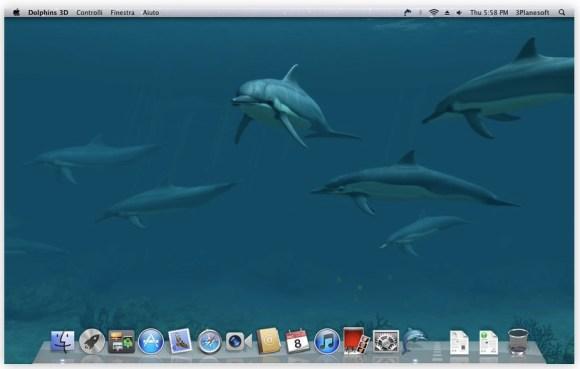 2011 12 20 02.14.43 pm 580x369 Dolphins 3D, uno sfondo animato per chi ama il mondo sommerso