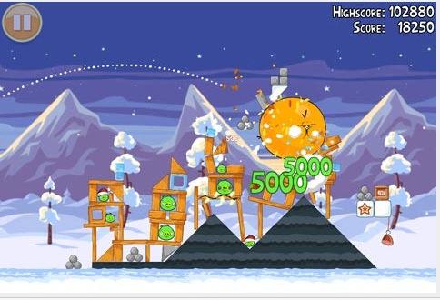 Schermata 12 2455897 alle 21.30.47 Angry Birds Seasons si aggiorna aggiungendo 25 livelli con tema natalizio