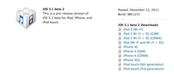 Schermata 12 2455909 alle 10.20.05 580x258 Apple rilascia iOS 5.1 beta 2 agli sviluppatori