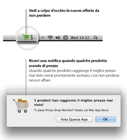 ita 02 Utile  applicazione per Mac: Prices Drop Monitor for Amazon