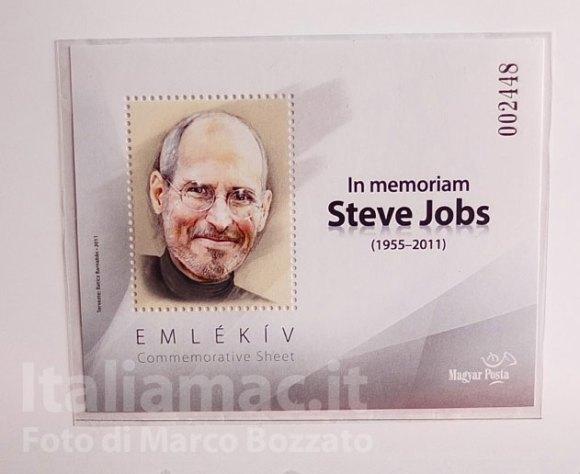 DSCF4296b 580x474 Le foto dal vero del francobollo commemorativo di Steve Jobs della Magyar Posta, il servizio postale ungherese