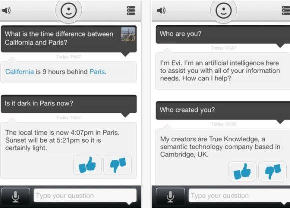 evi 2 580x416 Evi: unapplicazione alternativa per i dispositivi iOS senza Siri