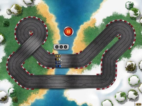 ipad 4 580x435 Giochiamo con le macchinine su iPad: Old School Race multiplayer Pro