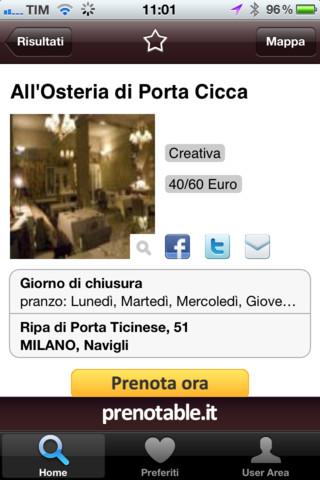preno2 Prenotable, app per trovare, condividere sui social e prenotare ristoranti in Italia