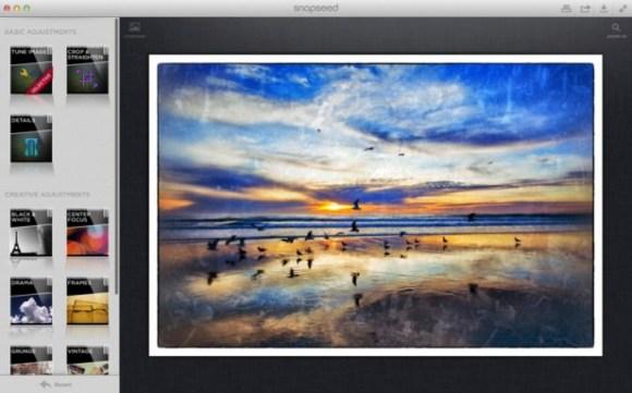 snapseed for mac screenshot 001 580x361 Lapplicazione di editing fotografico Snapseed debutta su Mac App Store