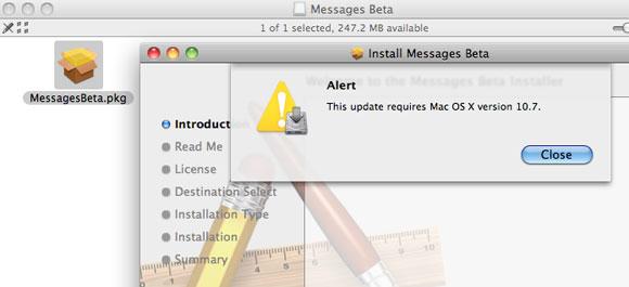 message107 iMessage anche su Mac OS X, ecco la Beta di Message