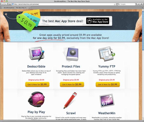 zero99feb Il 23 Febbraio 12 fantastiche App per Mac OS X tagliano il prezzo! Tutte ribassate a 79 Centesimi