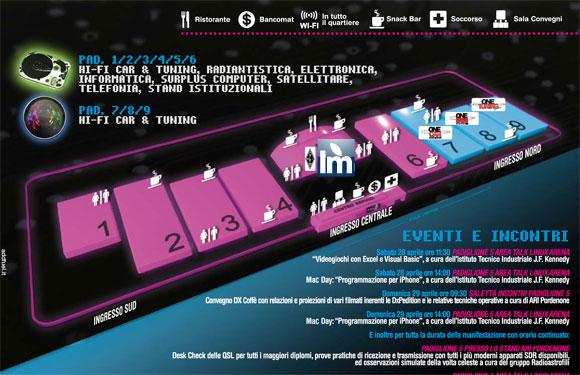 MappaFieraPordenone Italiamac Meet Up + MACday 2012 alla Fiera di Pordenone il 28/29 Aprile