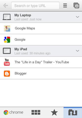 chrome ios3 Google Chrome arriva su iPad e iPhone