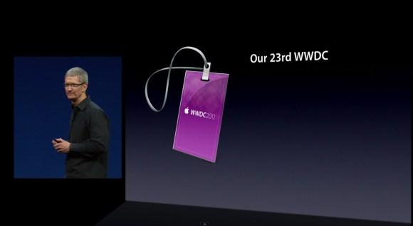 wwdc screen 580x318 Il video del keynote Apple è disponibile in HD su YouTube e iTunes