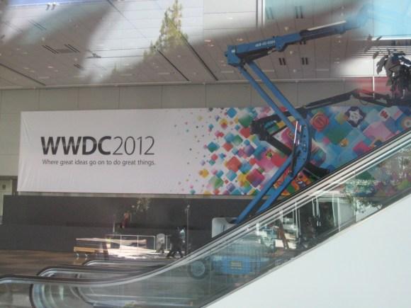 wwdc great things 580x435 Al via i preparativi del WWDC 2012 al Moscone Center