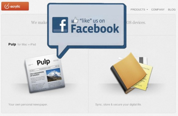 Facebook Acrylic Software 580x377 Quando le idee dei piccoli fanno gola ai grandi.