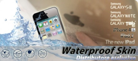 waterskin wp 590x263 580x258 iPhone e iPad a prova di acqua con AnycastSolutions e il segreto cè ma non si vede!