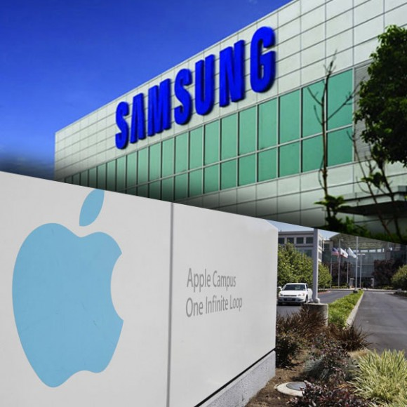 apple vs samsung offices 580x580 Samsung pare intenzionata a mollare Apple sul versante display