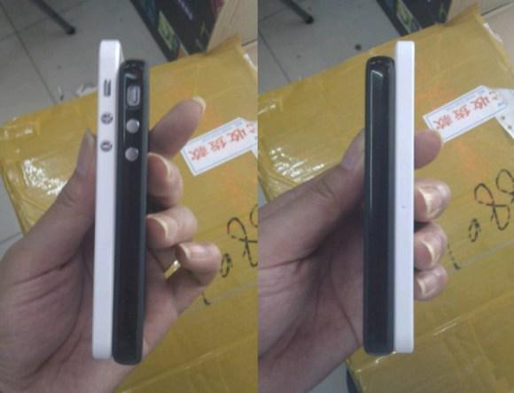 dummy iphone 5 3 580x444 iPhone 5, il tarocco cinese si chiama Goophone i5 e ha Android. Ma può essere unipotesi veritiera del futuro iDesign?