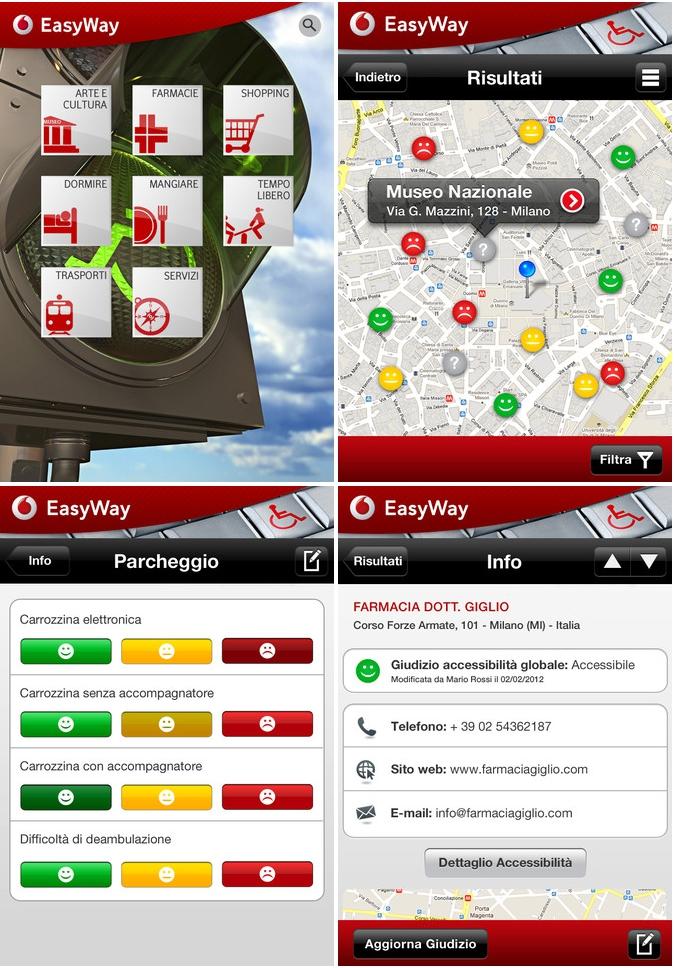 Vodafone Easyway1 Vodafone EasyWay per individuare barriere architettoniche nella tua città