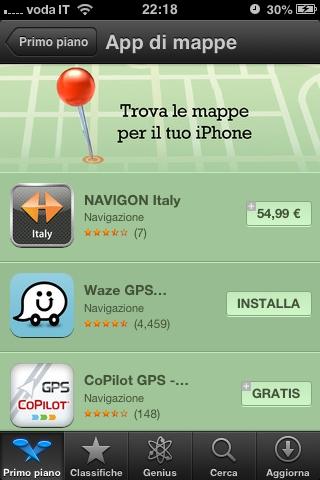 foto 2 Raccolta App di Mappe nellApp Store, a pochi giorni dalla lettera di scuse di Tim Cook su Apple Maps