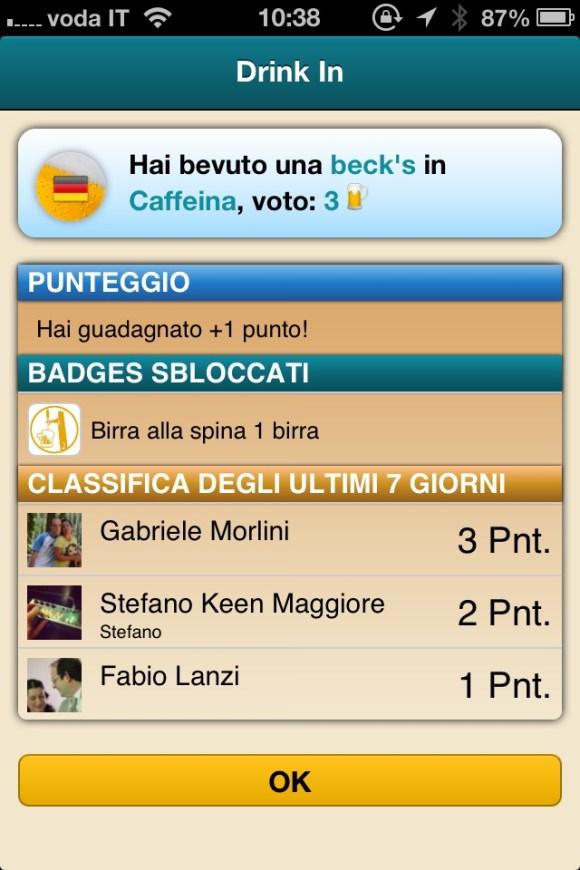 schermata drinkin 580x870 Meet Beer, app gratuita italiana dedicata al mondo della birra