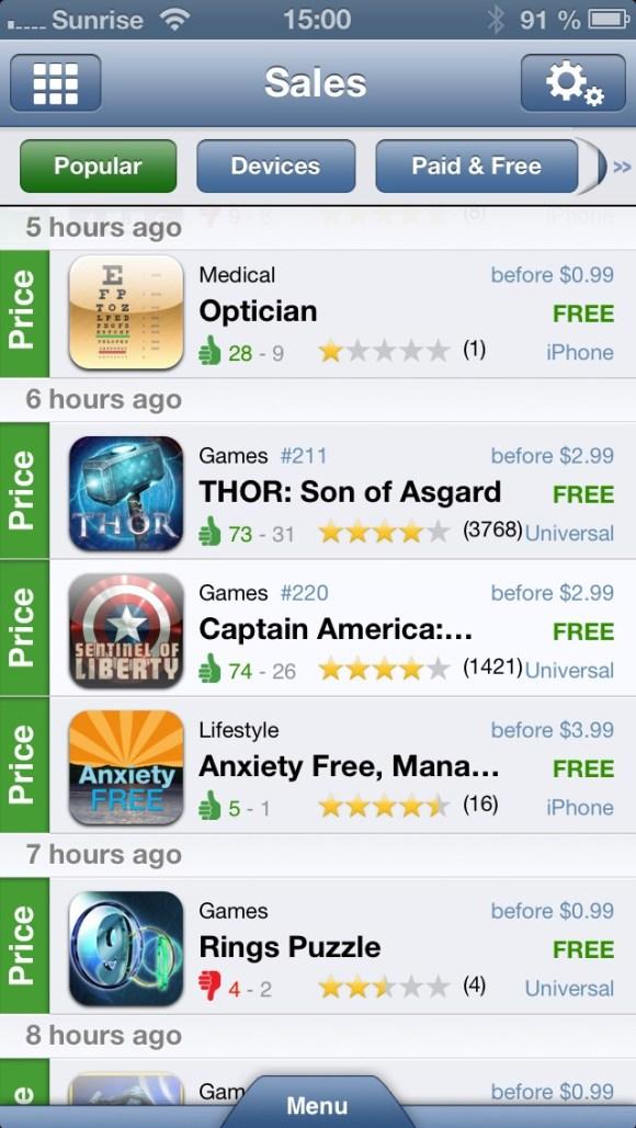 IMG 20121213 21 580x1029 AppZapp, lapp per iPad e iPhone che ti segnala tutte le app scontate o adesso gratis
