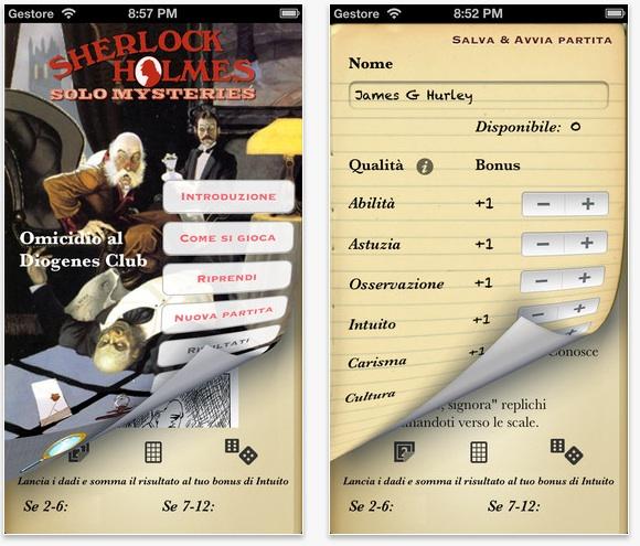 Sherlock02 Sherlock Holmes 1   Omicidio al Diogenes Club, una app un po gioco e un po libro per iOS