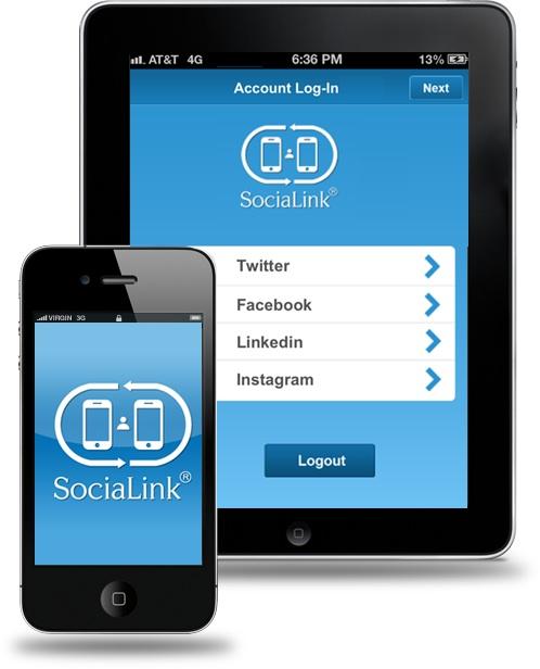 SociaLink Con SocialLink per iPhone e iPad ti colleghi rapidamente in modo Social con le persone che incontri