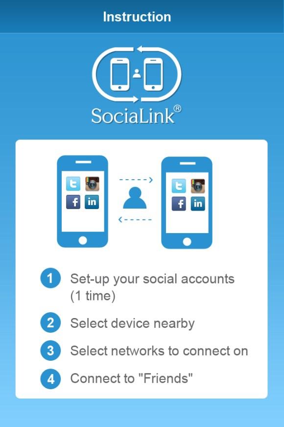SociaLink2 580x870 Con SocialLink per iPhone e iPad ti colleghi rapidamente in modo Social con le persone che incontri