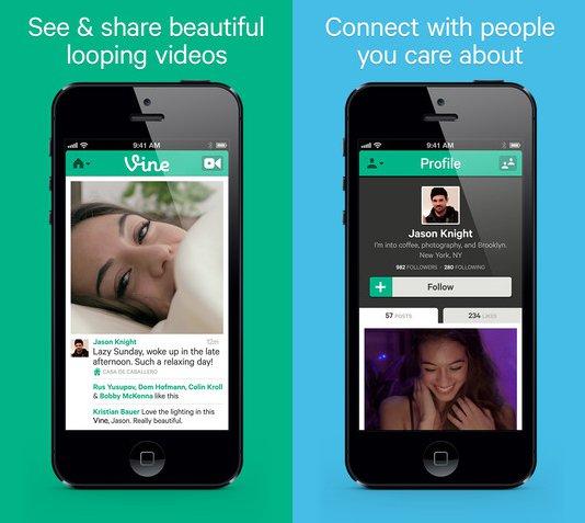 Vine screenshot Twitter rilascia lapp Vine per la condivisione di brevi filmati