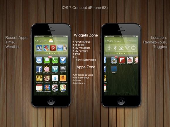 ios 7 concept iphonesoft medhi large 580x435 iOS 7: Ecco come sarà secondo iPhoneSoft