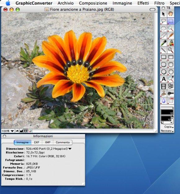 gc screen5 580x625 GraphicConverter 8.5.1 in italiano da Italiaware