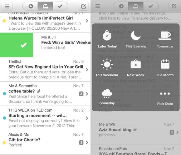mailbox swipe snooze 580x496 Mailbox, il client mail che mancava.