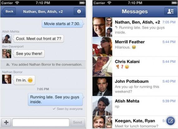 Facebook Messenger1 H3g: Facebook Messenger gratis per 3 mesi, anche senza piano dati