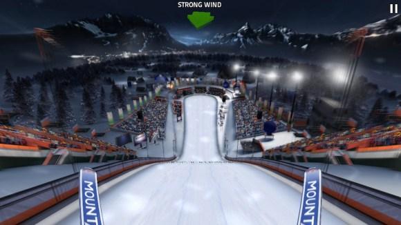 Ski Jumping Pro 1 580x326 Con Ski Jumping Pro ti butti dai trampolini innevati più famosi del mondo. In 3D su iOS