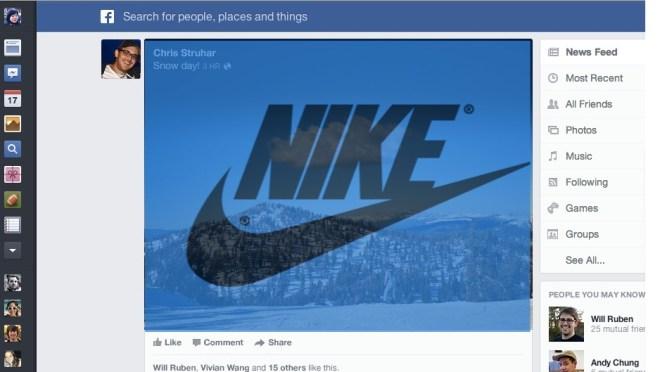 news feed1 Notizie (e pubblicità) più chiare e in evidenza con la nuova grafica di Facebook