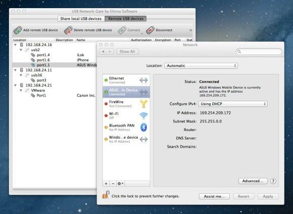 usb over wifi 580x423 USB Network Gate per Mac, condividi in rete i dispositivi USB con altri computer