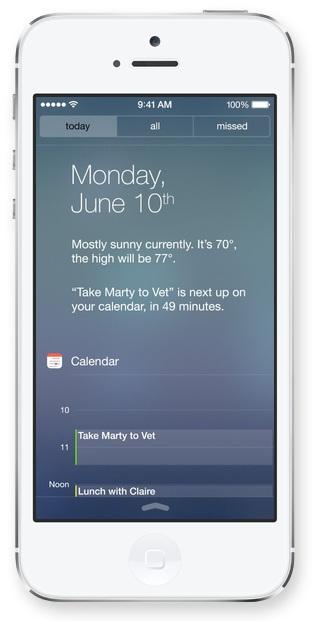 Centro Notifiche in iOS 7 - Oggi