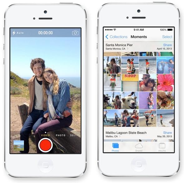Fotocamera e Momenti in iOS 7