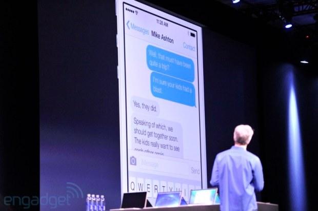 Messaggi in iOS 7