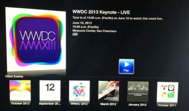 %name Il Keynote del WWDC 2013 in diretta streaming su Apple Tv e Safari